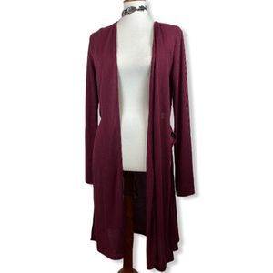 Ambiance ribbed duster cardigan